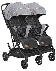 Детская прогулочная коляска для двойни Carrello Presto Duo CRL-5506 Pitch grey