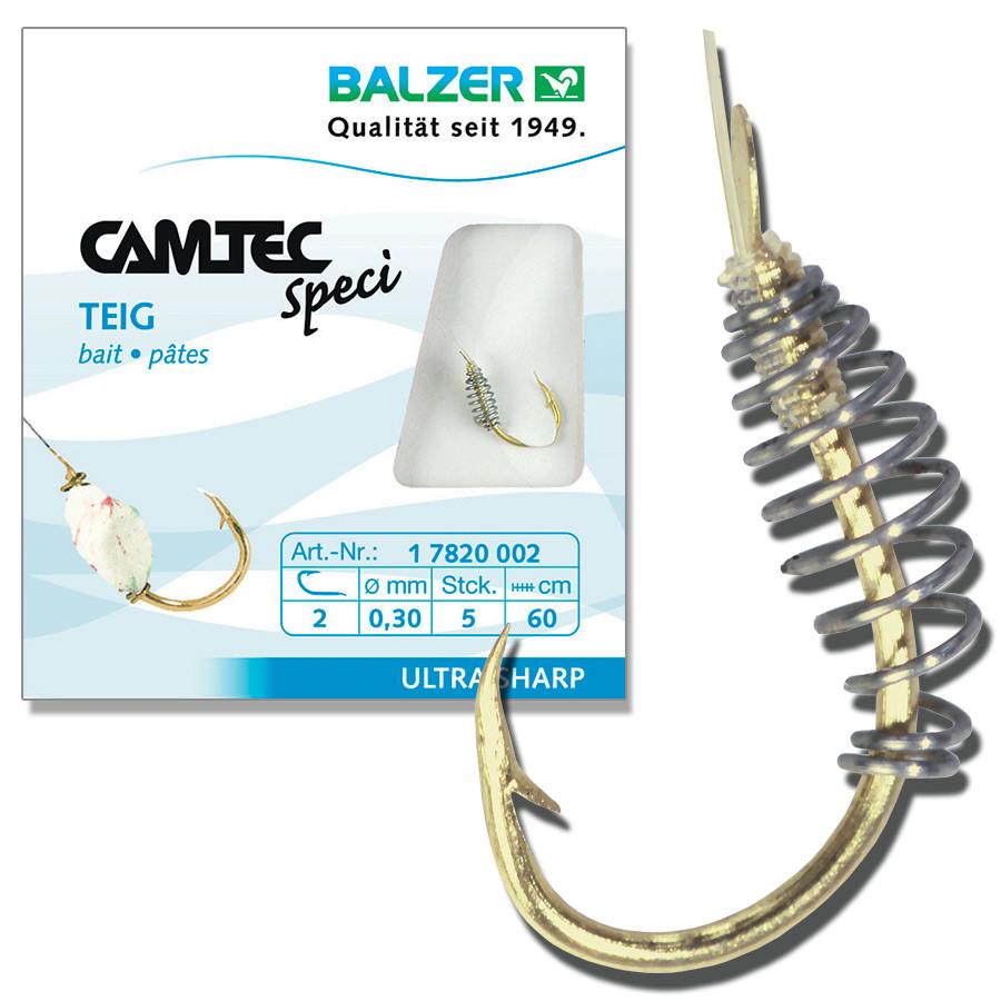 Крючок с поводком  Balzer Camtec с пружиной на тесто №10  5шт.