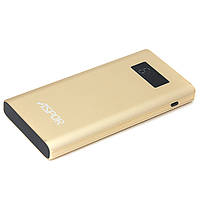 Павербанк Power Bank 10000mAh Aspor Q388 Metal (LCD, 2USB) Gold