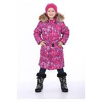 Пальто-пуховик для девочек YASMINE HUPPA, YASMINE 12020055-73263, 4 года (104 см), 4 года (104 см)