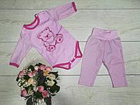 """Детский ясельный костюм """"Теддик"""" 62 и 68-74 см 68 см-розовый цвет"""