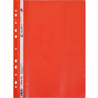 Скоросшиватель с перфорацией А4 «C» пластиковый красный