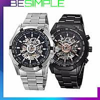 Стильные механические часы Winner Skeleton / Мужские часы