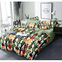 Постельное белье из Бязи Голд зеленого цвета с кактусами