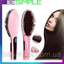 Расческа-выпрямитель Fast Hair Straightener / Электрическая расческа выпрямитель