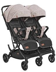 Детская прогулочная коляска для двойни Carrello Presto Duo CRL-5506 Steam beige