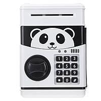 Электронный сейф-копилка с кодовым замком Panda Черно-белый 101041, КОД: 1519153