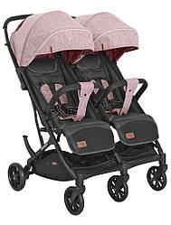 Детская прогулочная коляска для двойни Carrello Presto Duo CRL-5506 Cherry pink