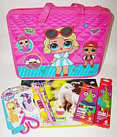 Подарочный набор в портфеле для девочки 10 предметов