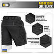 M-tac мужские шорты черные aggressor lite, фото 4