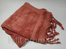 ТМ TAG Полотенце махровое Косичка лиловое