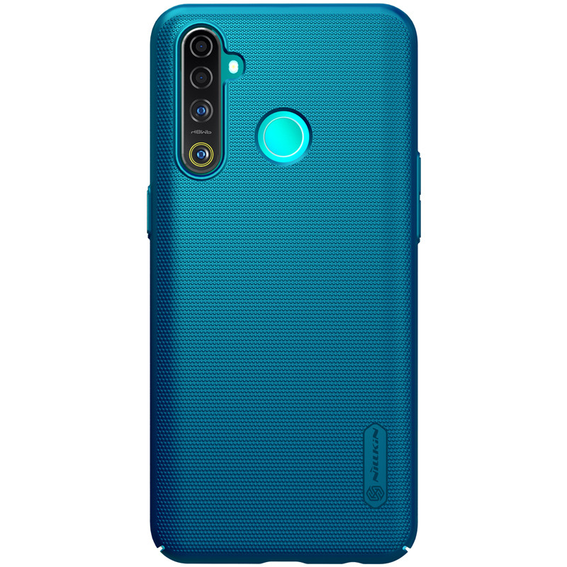 Nillkin Realme 5 Pro Super Frosted Shield Blue Чехол Накладка Бампер