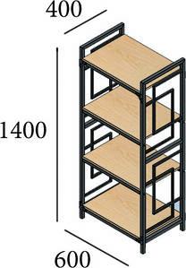 Стеллаж 5 полок 1800*800*410 серия Призма от Металл дизайн