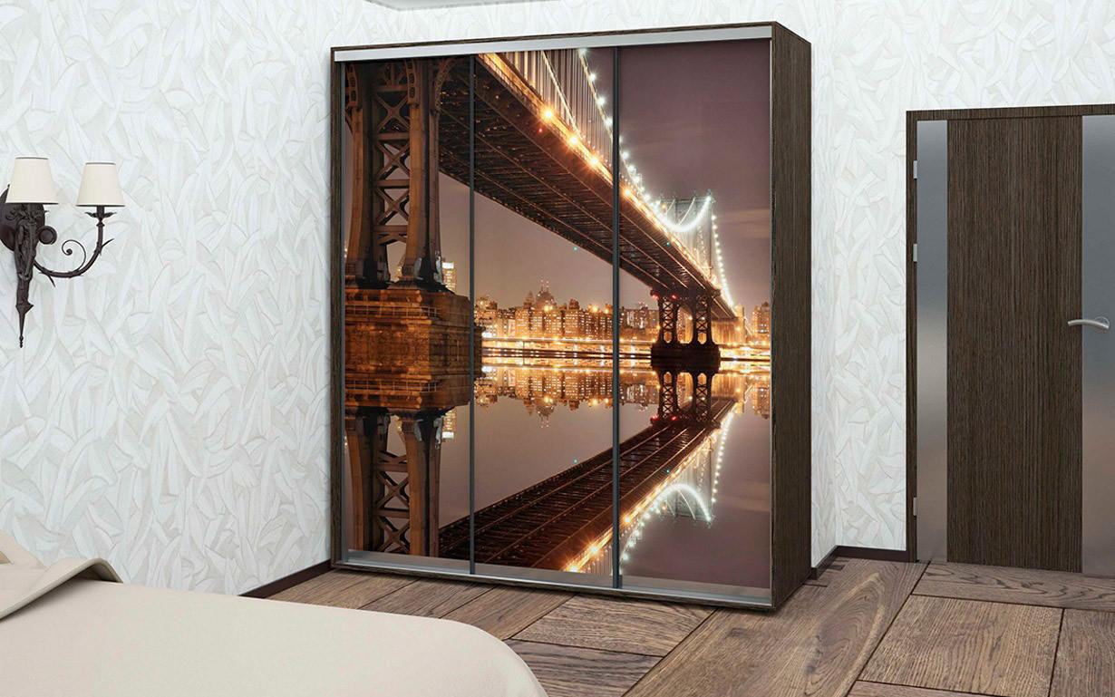 Шкаф купе 04 2200х600х2200 Алекса мебель