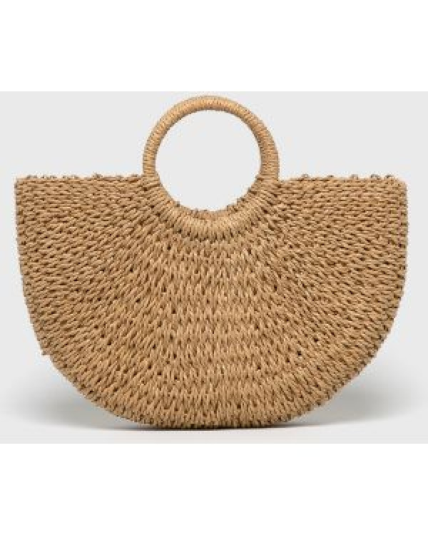 Соломенная сумка с ручками Сен-Лоран