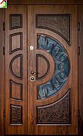 Дверь входная Министерство дверей металл/МДФ ПВ-191V Дуб темный Vinorit (Патина) двери бронированные, для дома