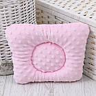 """Подушка для новонароджених з плюшем """"Зайчики"""" сіро-рожевого кольору, фото 2"""