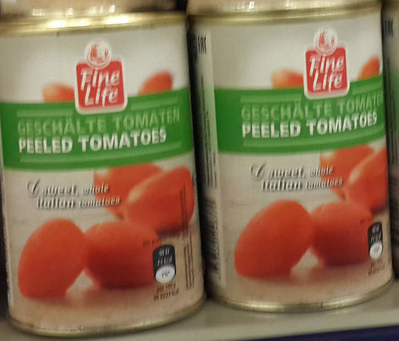 Помидоры целые очищенные в томатном соке, 1000 гр
