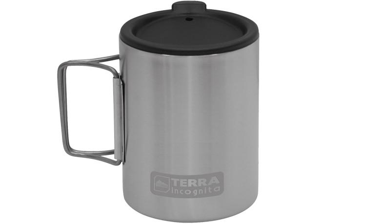 Термокружка с крышкой Terra Incognita T-Mug 350 мл W/Cap Серебристая