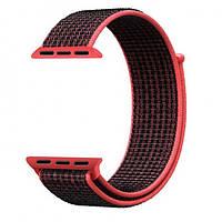 Ремешок Apple Watch Nylon Loop 42mm 10, red black