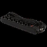 Сетевой фильтр LogicPower 6 розеток 10 м черный ОЕМ (LP-X6)
