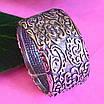 Широке срібне кільце без каменів Візантія - Жіноче кільце з срібла, фото 4