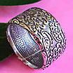 Широке срібне кільце без каменів Візантія - Жіноче кільце з срібла, фото 3