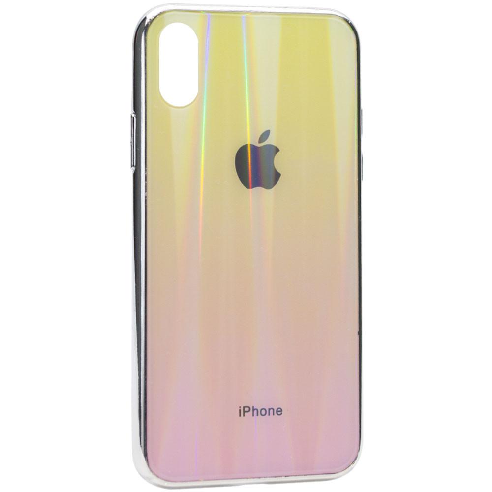 "TPU+Glass чехол Gradient Aurora с лого для Apple iPhone X / XS (5.8"")"