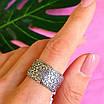 Широке срібне кільце без каменів Візантія - Жіноче кільце з срібла, фото 6