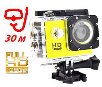 Экшн камера A7 Sport + Аквабокс+Крепление на руль/шлем+защита