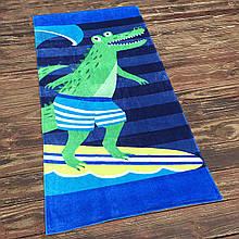 Детское махровое полотенце для мальчика, пляжная подстилка, покрывало, коврик
