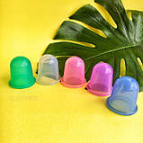 Набор банок силиконовых вакуумных для массажа лица и тела, упаковка 4 шт, фото 6