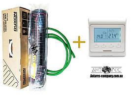Мат для обогрева пола Ryxon серия НМ (200 вт. м2) (1 м2)комплекти с програматором E-51 Премиум (Р) KIT (6402)