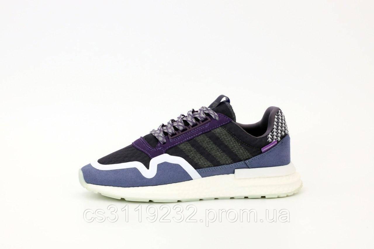 Женские кроссовки Adidas ZX 500 RM Violet (фиолетовые)
