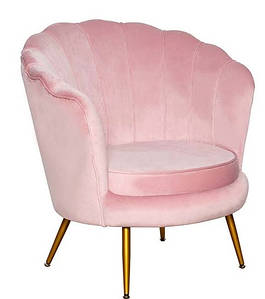 Кресло Шелл розовое ТМ Prestol