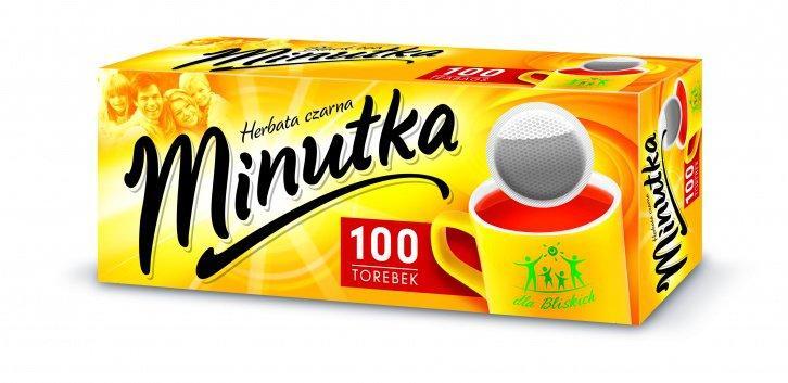 Чай черный мелколистовой в пакетиках Minutka (100шт), Польша