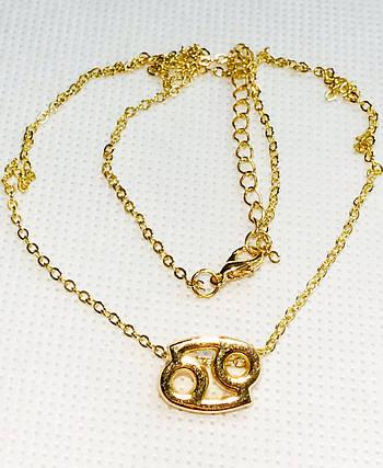 Колье Primo с подвеской знак зодиака Cancer (Рак) - Gold