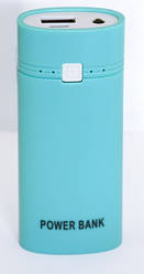 Внешний аккумулятор разборный  Power Bank Case HQ-Tech для 2шт 18650 5V/1A Blue