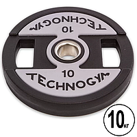 Код: 015191 Блин (диск) полиуретановый d-51мм TECHNOGYM 10кг