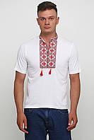 Вышитая футболка мужская Белая M-619