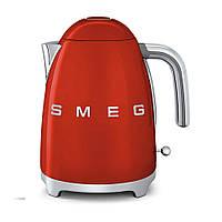 Электрочайник SMEG из нержавейки ( красный)