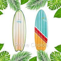 Матрас надувной Intex Сёрфинг для пляжа, отдыха на море, в бассейне, Пляжные надувные матрасы