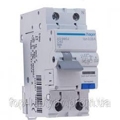 Дифференциальный автоматический выключатель 1P+N 6kA C-40A 30mA A, Hager AD990J