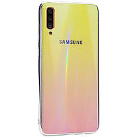 TPU+Glass чехол Gradient Aurora с лого для Samsung Galaxy A70 (A705F), фото 1