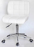 Кресло Soho (Сохо) эк белый Modern Office на хромированной базе на колесах, код 10856