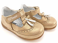 Босоножки для девочек кожаные золотистые Tiflani р.(18.19.20.21)
