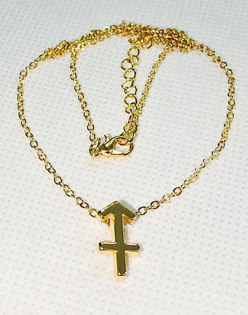 Колье Primo с подвеской знак зодиака Sagittarius (Стрелец) - Gold