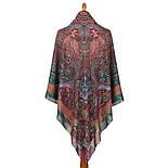 10390-8, павлопосадский платок из вискозы с подрубкой, фото 5