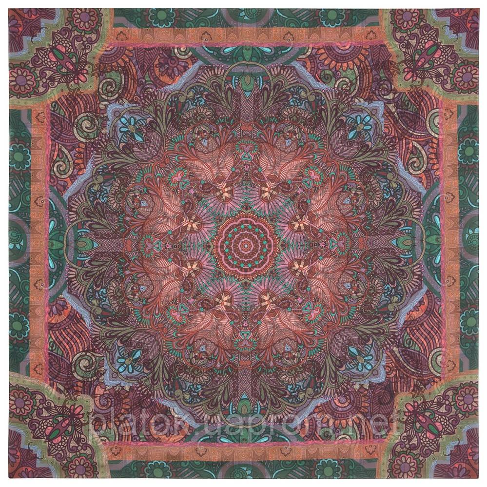 10390-8, павлопосадский платок из вискозы с подрубкой