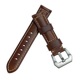 Шкіряний ремінець Primolux F001 Steel buckle для годин Honor MagicWatch 2 42mm - Brown
